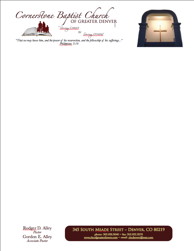 sample church letterhead templates