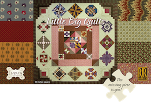 3 lucky winners will receive a set of fat quarters from Little Big Quilts by Legacy Patterns, the featured collection in Legacy's brand new Bock-of-the-Month and basis for Legacy Patterns Club 2014. The prize bundle includes fat quarters of the entire 40-piece collection. A great stash builder and collector's item. Learn more about Little Big Quilts and participating Legacy Patterns Club shops at www.legacypatternsclub.com The exciting new club program debuts in January 2014.