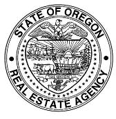 Seal of Oregon Real Estate Agency