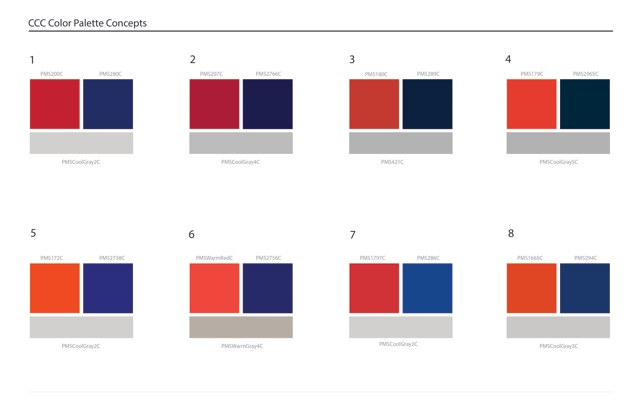 Clackamas community college logo redesign survey Color combinations numbers