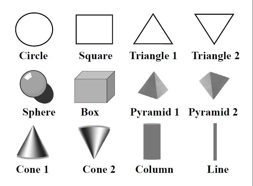 For the next question #10, please view the shapes below and use them to select your answer.