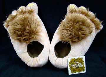 Hobbit Contest prize: Hairy Hobbit feet slippers!