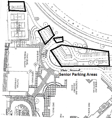 Senior Parking areas