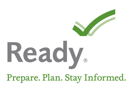 Ready Logo.  Prepare. Plan. Stay Informed.