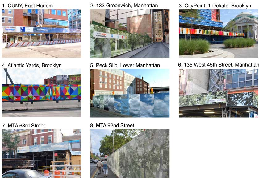 Below are images of urban canvas installations throughout New York City. Please select ONE urban canvas site that you have seen in the following question. *