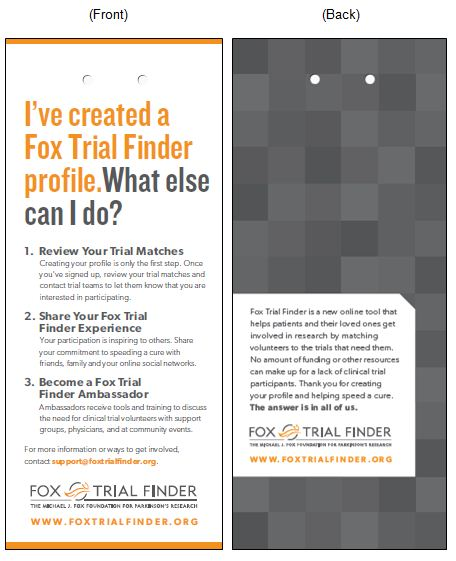 Fox Trial Finder Bookmark