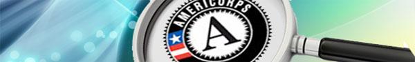 AmeriCorps logo under magnifying glass