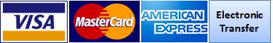 Métodos de pago aceptados:<br>