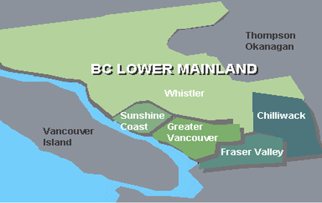 BC's Lower Mainland