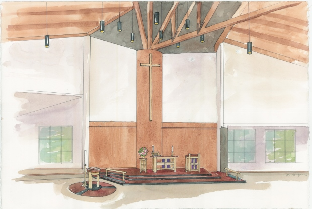 Peace Lutheran Sanctuary - Artist's Rendering
