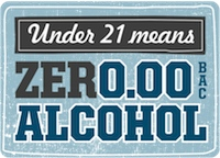 Zero Alcohol for Youth Campaign - Under 21 mean...