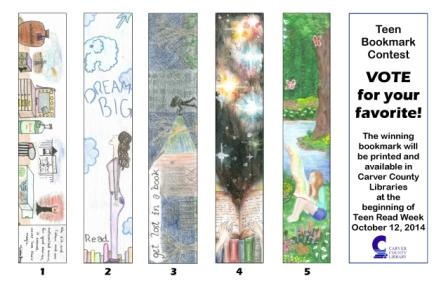 2014 Bookmark Contest Entries