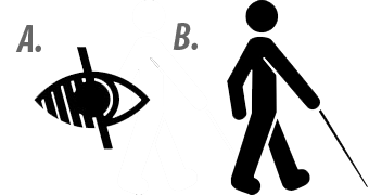 Logo To Represent Visually Impaired And Blind People Survey