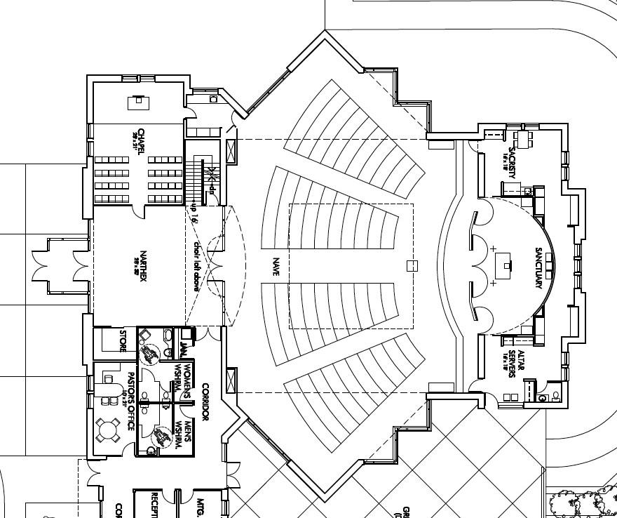 Floor Front Elevation Church : Chapel floor plans and elevations front elevation right
