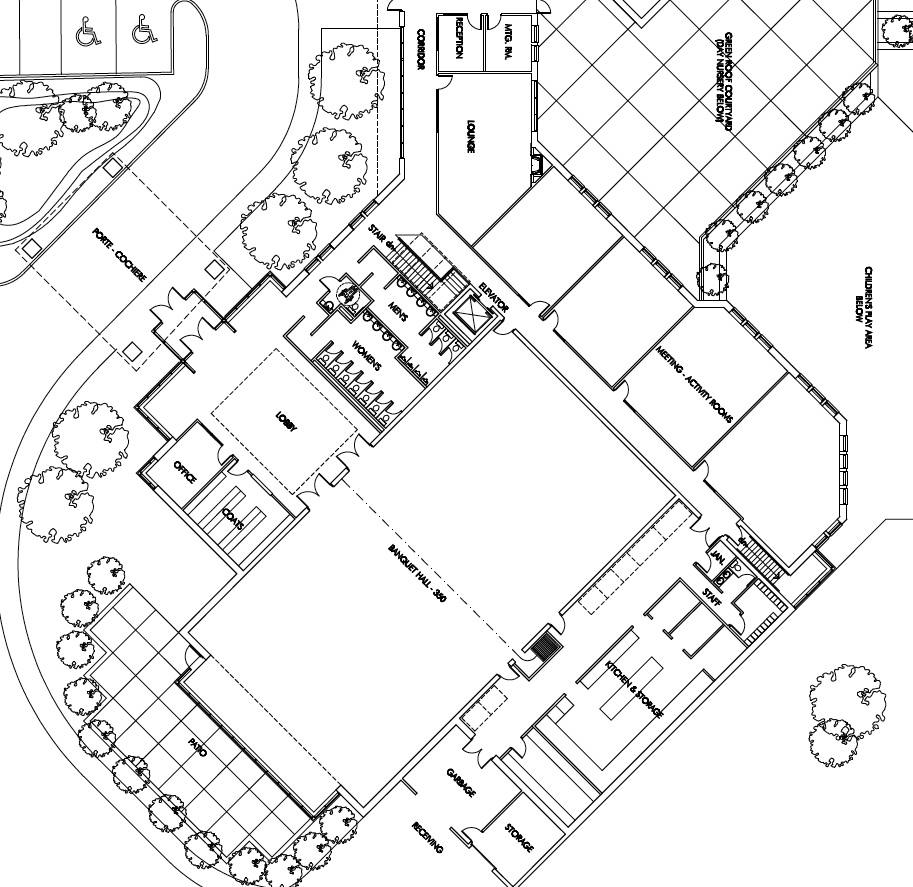 Multi purpose hall floor plan floor plan for party venue for Multi purpose building plans