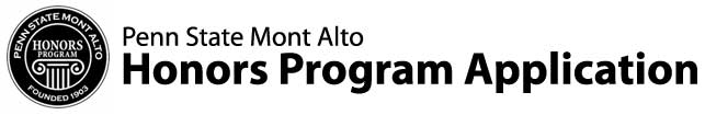 Penn State Mont Alto Honors Program Application