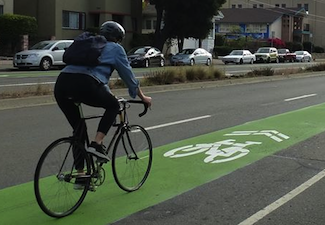 New 'Supersharrows' on 40th Street