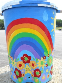 Rainbow Surprise<br>Artist:  Sue MacNicoll<br><br>Sue MacNicoll<br>207.752.2006<br>susanmacnicoll@gmail.com<br><br>Sue MacNicoll has enjoyed living in beautiful Kittery for ten years with her husband and two cats. Originally from New Jersey she studied Education and Art at Juniata College in Huntingdon, Pennsylvania and later at Lesley University in Massachusetts. She currently teaches computer technology classes at Hampton Academy in Hampton, New Hampshire. Sue enjoys gardening and this year included raised vegetable beds in her yard in the Foreside. Her love for perennial flowers keeps her garden in bloom from spring to fall.<br>