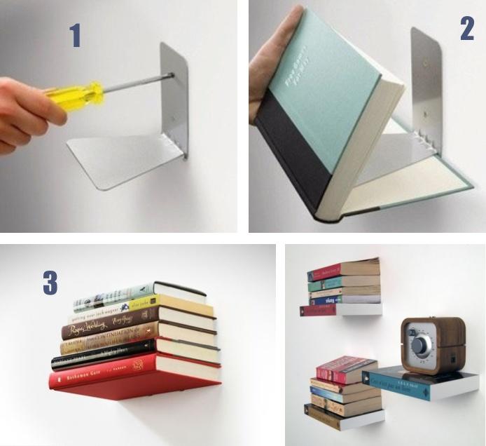 Repisas invisibles para libros producto survey - Como hacer un mueble cambiador de bebe ...