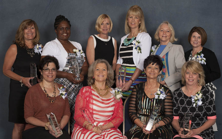 "The Atlanta Journal-Constitution honored 10 of Georgia's best registered nurses at the 9th annual AJCjobs Nursing Excellence Awards event on May 6, 2014 at the Cobb Galleria Centre. The winners are (backrow from left) Sherry King, Sherene MCDonald, Bailey Pendergrast, Ginny Balfour, Ann Keely, Amy Macy. (Front row from left) Gladys Jusino, Karen Trostle, Kay Hall, Saralyn Lee.<br> <br> For videos of this past year's winners, <a href=""http://www.ajc.com/videos/classifieds/health-med-fit-jobs/celebrating-nurses-awards-2014/lDTx/"" rel=""nofollow"">click here.</a><br> <br> Do you know a nurse that deserves recognition for his/her work in 2014? NOMINATE THEM TODAY!"