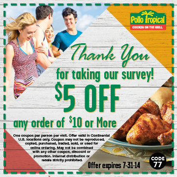 Pollo tropical coupon code