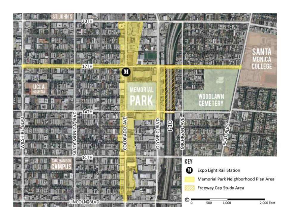 Memorial Park Neighborhood Plan Area Map