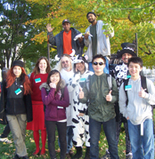 Group of Costumed PMD Volunteers
