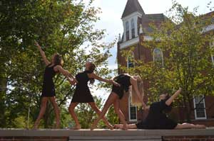 "Photo 1<br>Submitted by: Molly Sullivan '13<br>""Otterbein is the beautiful place that has  allowed us to do what we love everyday for the last four years. We came here because we love to dance--now, we don't want to leave because we love Otterbein. """