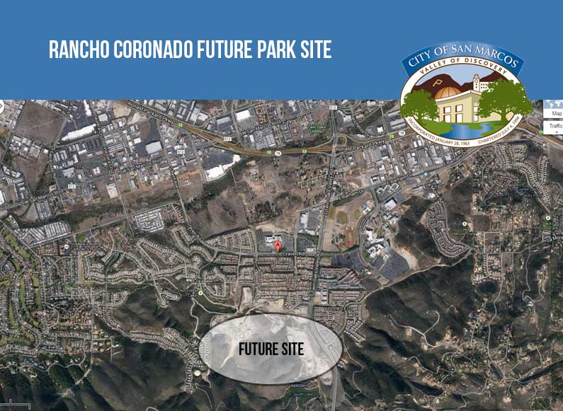 The City of San Marcos is seeking feedback on the future 20-acre Rancho Coronado Park site. Please help move the design forward by weighing in with your feedback today!
