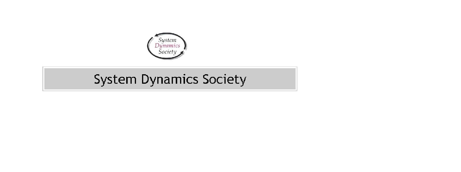 System Dynamics Society Logo
