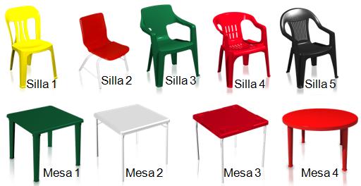 Sillas y mesas de plastico survey - Mesas y sillas de plastico ...