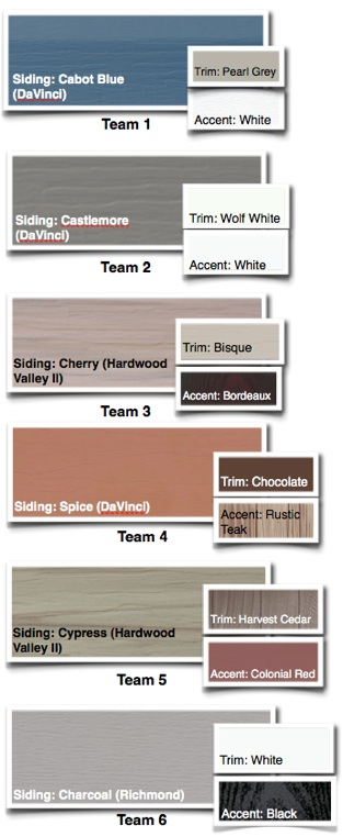 We've asked our experts across the country to come up with the best color combinations for your home's exterior. They came back over 100 combinations. Below, you will find the final 6. Now it's up to you to vote for the best one. The one that will rule them all. Cast your vote now!