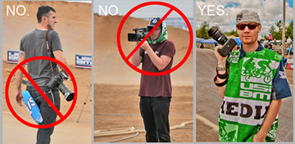 IMPORTANT:  Media Vests are to be worn in the infield AT ALL TIMES.<br>How To (and How Not To) wear a USA BMX media vest.  <br>Please take note and follow the fine example of Jason McGuire [far right].
