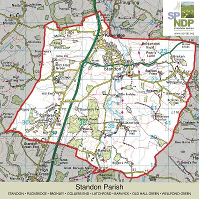 Map of Standon Parish