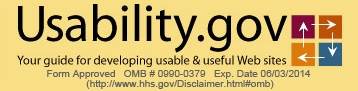 Usability.gov Logo with omb