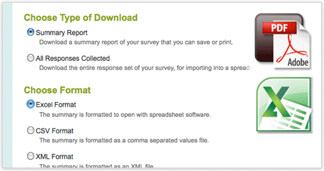 SurveyMonkey - Download your results any way you like.