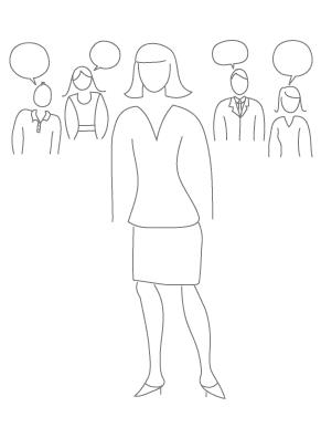 Ilustración de encuestas de Recursos Humanos