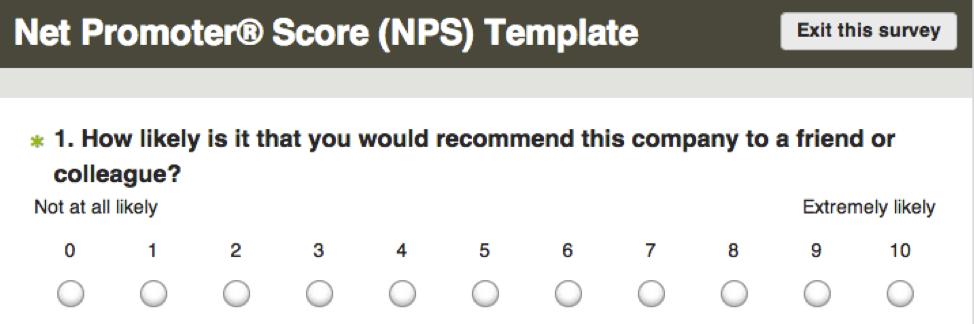 net promoter score nps survey surveymonkey