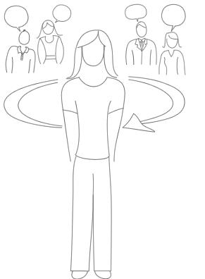 Ilustração de modelos de questionários de negócios