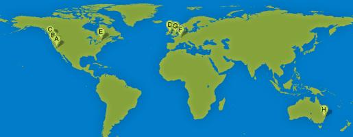 Map of SurveyMonkey Locations