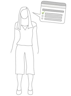 Ilustración de encuestas de satisfacción con el trabajo