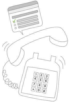 Telephone Surveys Illustration