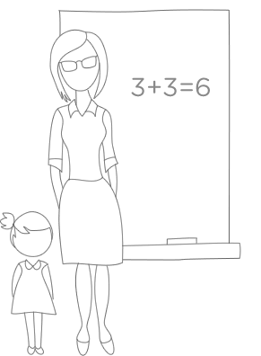 Ilustração de questionários educacionais