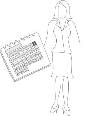 Ilustración de encuestas de planificación de eventos