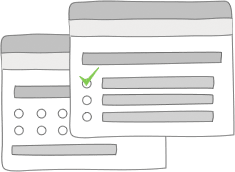 Illustration zu Umfragetypen