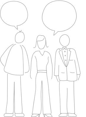 Ilustração de questionário de lealdade do cliente
