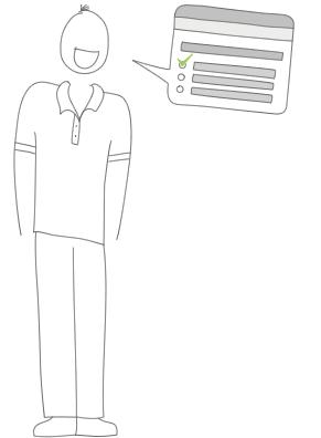 Ilustração de questionários para pesquisa de clima organizacional