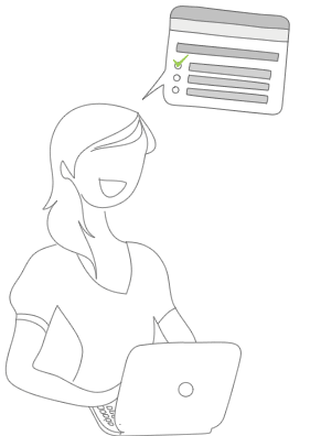 Illustration til spørgeundersøgelser om feedback på produkter